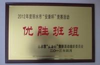 2012丽水市安康杯优胜班组