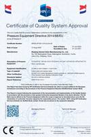 获得英国HPI颁发的CE证书